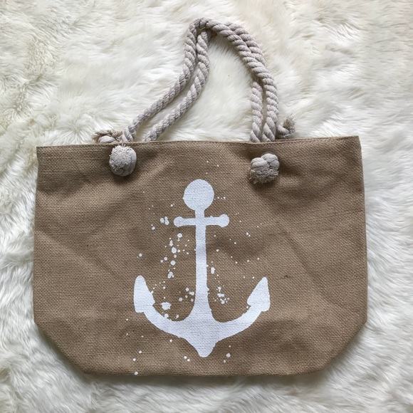 d47c9161b1 ✨LAST TWO✨ Large Anchor Beach Bag w  Rope Handles